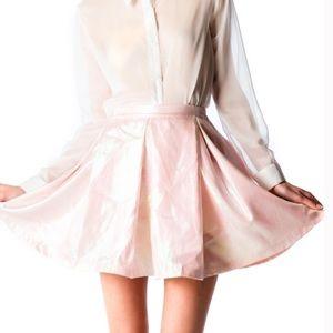 UNIF Pink Metallic Skirt